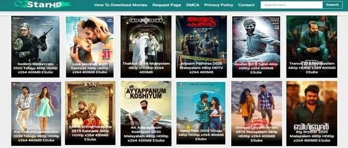 7StarHd free movie download website