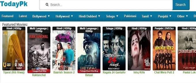Movie Category on Todaypk site? Todaypk 2021 में तमिल और तमिल डब फिल्में जैसी फिल्मों का एक विशाल भंडार है। इस अवैध वेबसाइट पर, आप हॉलीवुड, बॉलीवुड की अधिकांश फिल्में मुफ्त में देख सकते हैं। todaypk आपको अलग-अलग वीडियो की गुणवत्ता के साथ फिल्मों का एक बड़ा चयन प्रदान करता है। फिल्में देखने या डाउनलोड करने के लिए Todaypk पर उपलब्ध स्ट्रीमिंग प्रकार नीचे सूचीबद्ध है। टुडेपेक अपनी वेबसाइटों पर HD गुणवत्ता वाली फिल्में भी प्रदान करता है। ज्यादातर user अक्सर HD quality में movie डाउनलोड करते हैं। अपने उपयोगकर्ताओं के बारे में सोचते हुए, Todaypk अवैध वेबसाइट सभी फिल्मों के लिए एक निश्चित स्ट्रीमिंग गुणवत्ता है। अवैध वेबसाइट Todaypk पर निम्न स्ट्रीमिंग गुणवत्ता से विभिन्न प्रकार की फिल्में देखी जा सकती हैं। Todaypk website अपने user के लिए विभिन्न प्रकार के मूवी विकल्प प्रदान करता है। यही कारण है कि users इस वेबसाइट पर बार-बार आते हैं इस साइट पर आपको फिल्म डाउनलोड के लिए बहुत बड़ी संख्या में फिल्में मिलेंगी । । तो यहां उन फिल्मों की एक सूची दी गई है जिन्हें आप साइट पर देखने की उम्मीद कर सकते हैं। Bollywood Hollywood Tollywood Dual audio, varied quality Punjabi Movies Tollywood movies, classics of the Bengali cinema South Indian movies, mainly in Tamil, Telugu, and Malayalam, available dubbed versions.